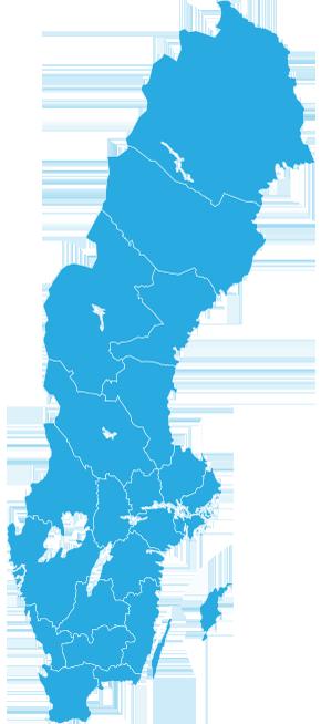 empty map of sweden